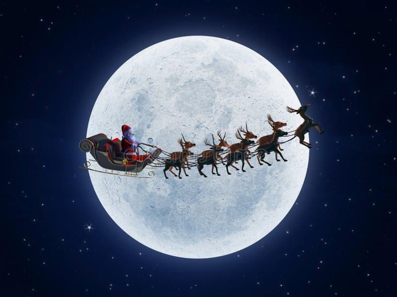 s圣诞老人雪橇 皇族释放例证