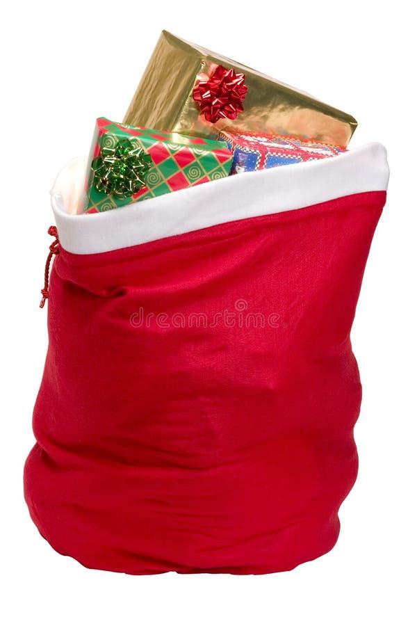 s大袋圣诞老人 库存图片
