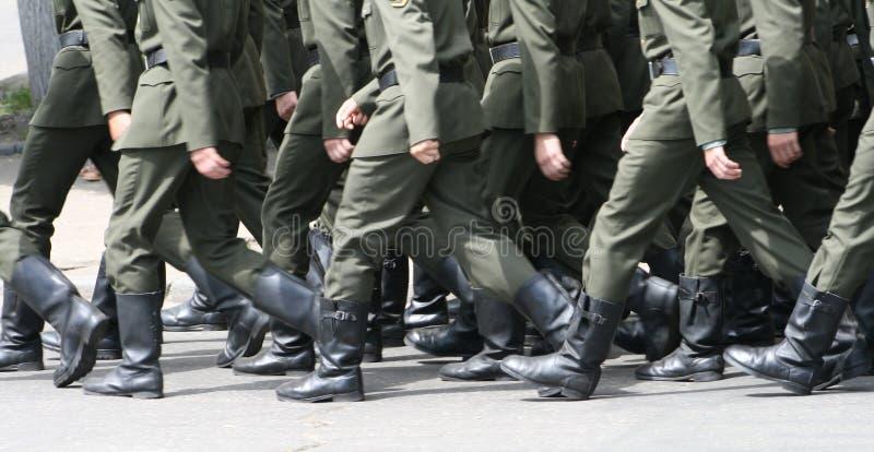 s战士步骤 库存图片