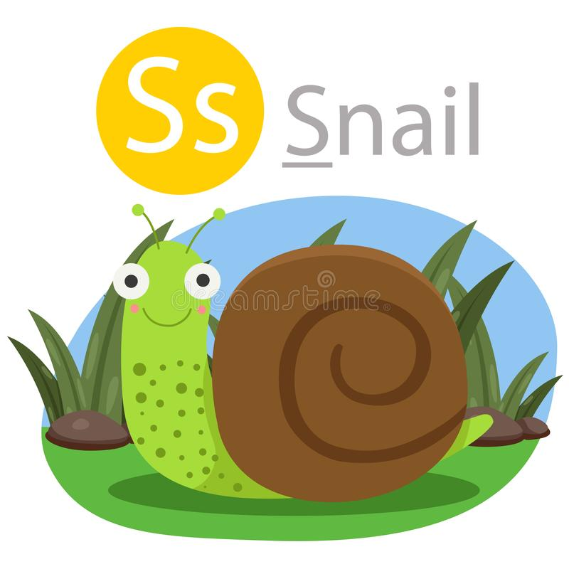 S的以图例解释者蜗牛动物的 库存例证