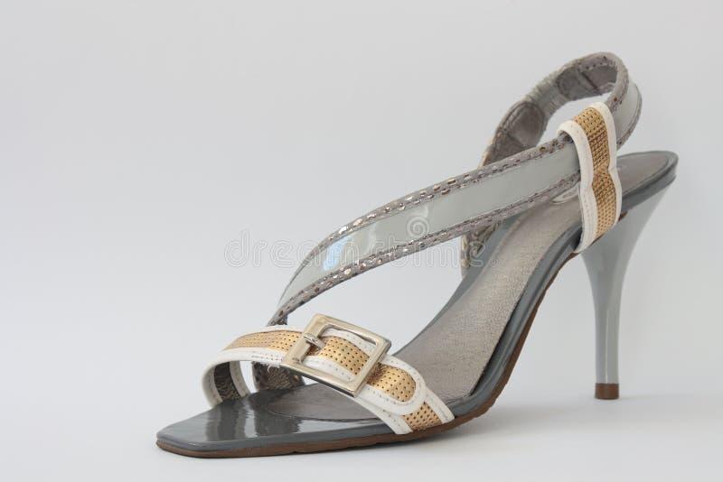 s穿上鞋子妇女 免版税库存照片