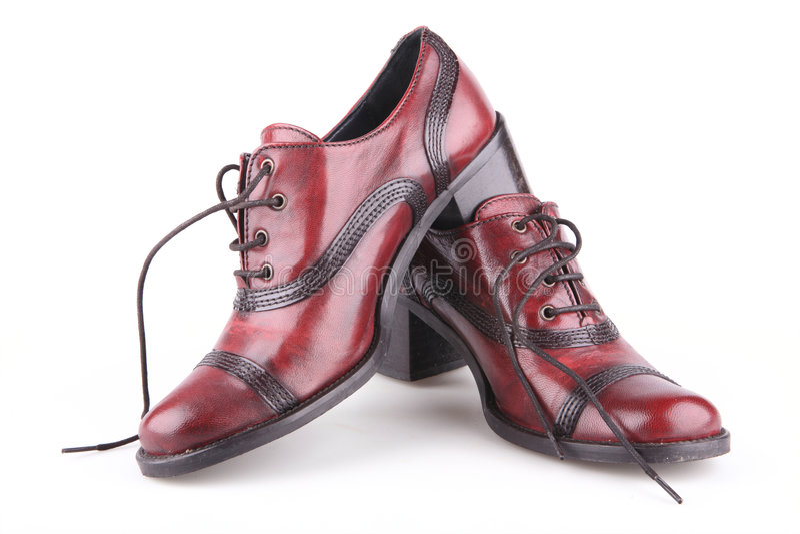 s穿上鞋子妇女 免版税图库摄影