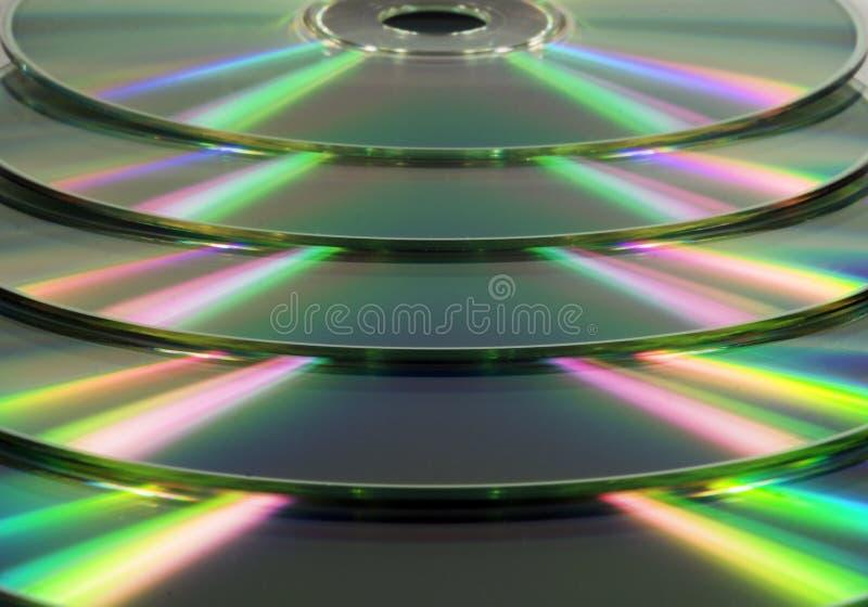 s被堆积的CD的dvd 免版税库存照片