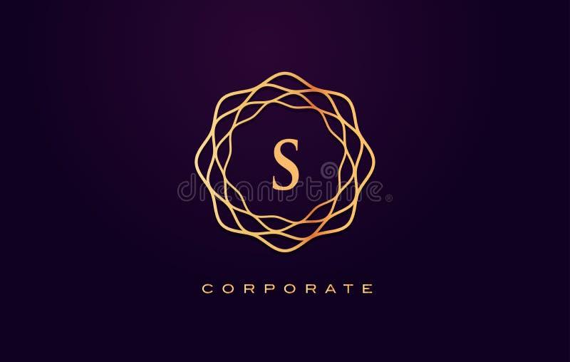 S豪华商标 组合图案书信设计传染媒介 图库摄影