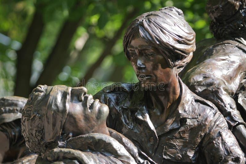 s雕塑越南战争妇女 库存照片