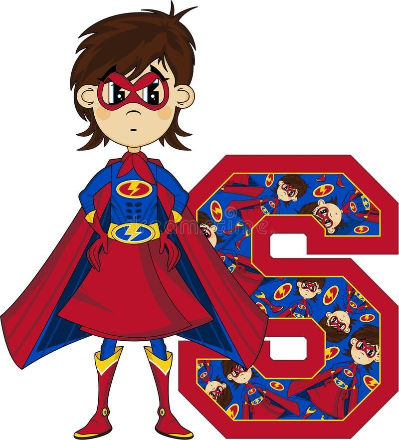 S är för Superhero stock illustrationer