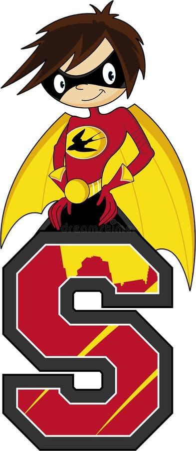 S är för Superhero vektor illustrationer