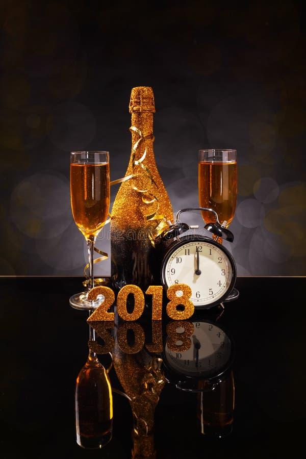 ` S Ève de la nouvelle année 2018 photographie stock libre de droits