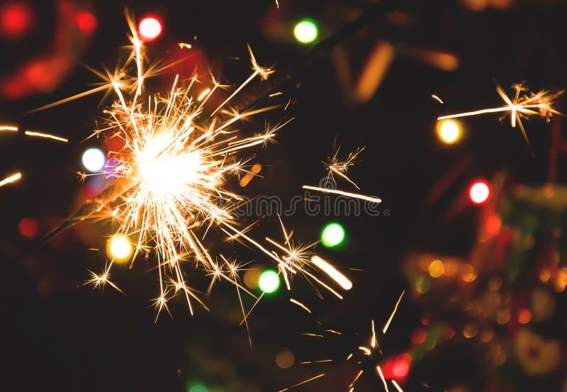 ` S Ève de nouvelle année de pulvérisateurs images stock
