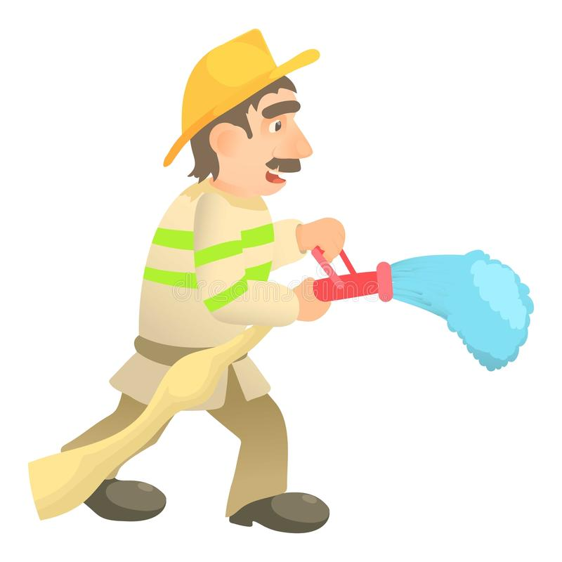 S'éteindre l'icône de sapeur-pompier, style de bande dessinée illustration stock