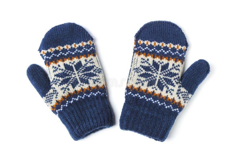Πλεκτά γάντια παιδιών στοκ φωτογραφία με δικαίωμα ελεύθερης χρήσης