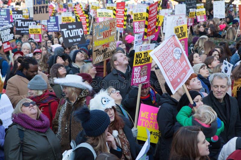` S Лондон -го женщин март, 2016 стоковая фотография