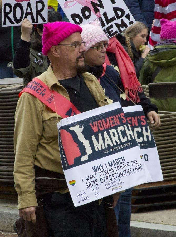` S март женщин на Вашингтоне стоковые изображения