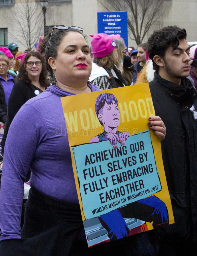 ` S март женщин на Вашингтоне стоковые изображения rf