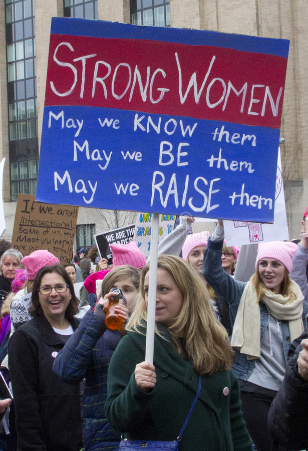 ` S март женщин на Вашингтоне стоковая фотография rf