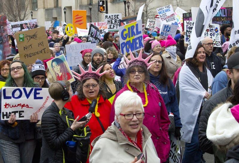 ` S март женщин на Вашингтоне стоковое изображение rf