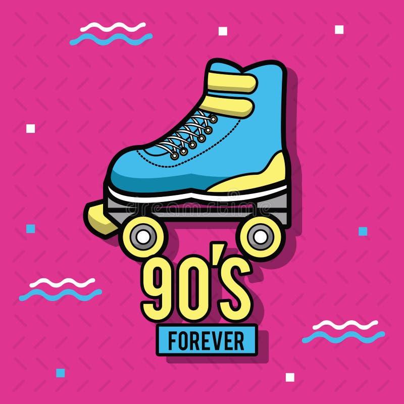 90s навсегда конструируют бесплатная иллюстрация