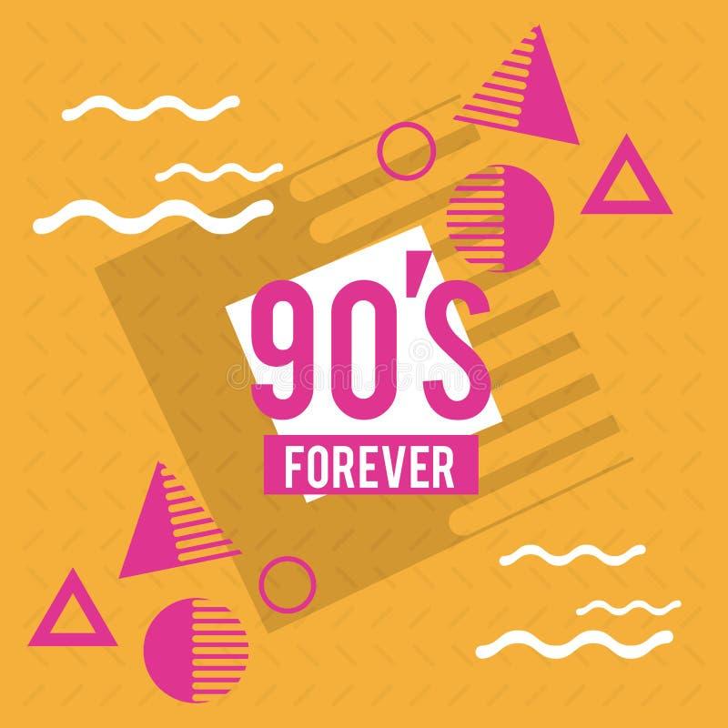 90s навсегда конструируют иллюстрация вектора