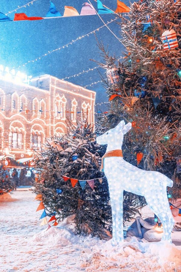 ` S Нового Года справедливое на красной площади Пейзаж ` s Нового Года   стоковые фотографии rf