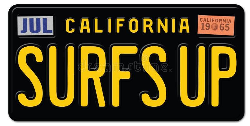 ` S прибоя вверх по номерному знаку Калифорнии бесплатная иллюстрация
