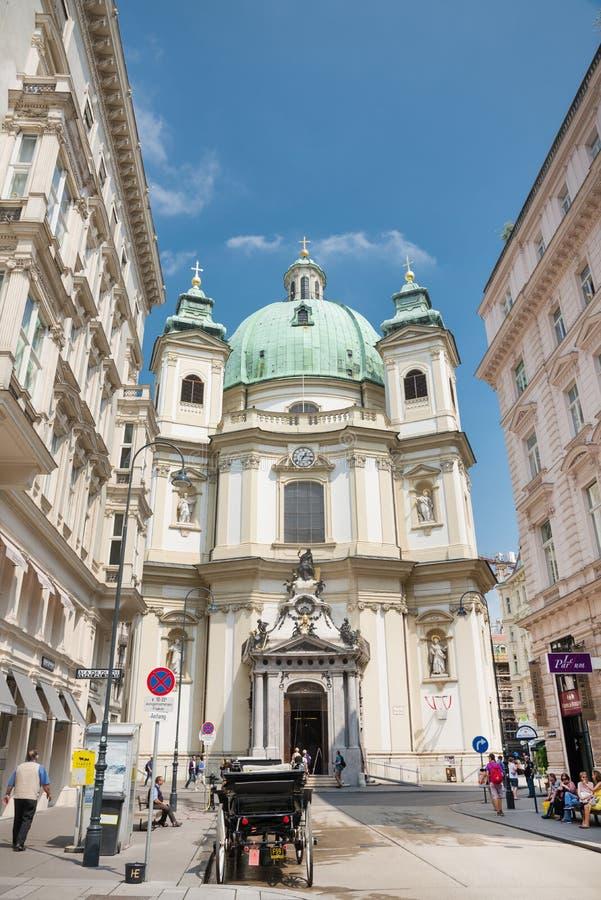S Церковь Питера в вене стоковая фотография