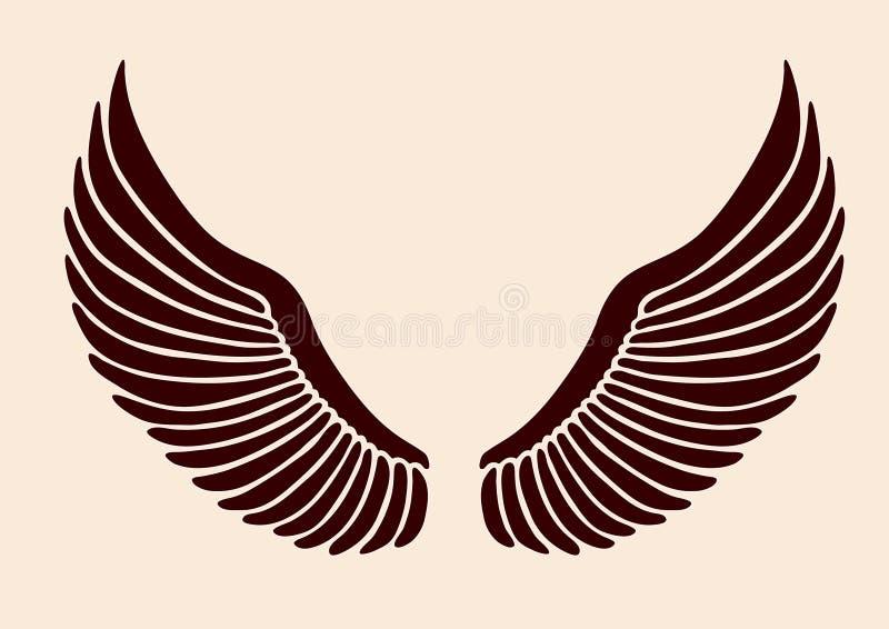 s 02 skrzydła ilustracja wektor