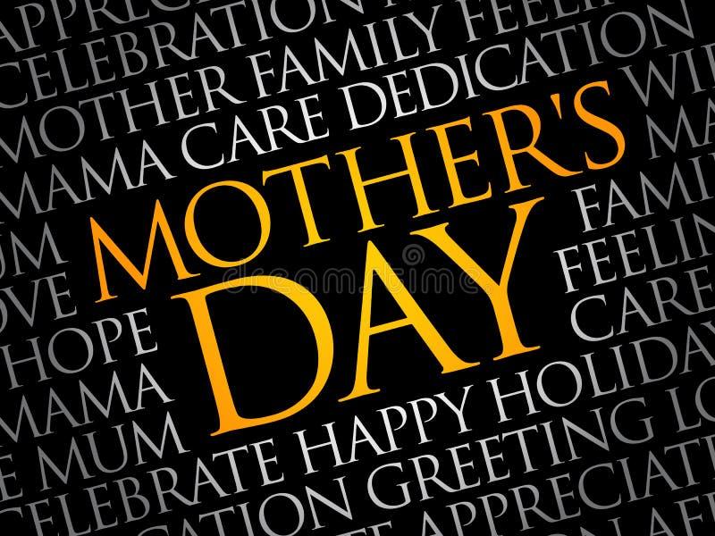 Σύννεφο λέξης ημέρας μητέρας στοκ φωτογραφία με δικαίωμα ελεύθερης χρήσης