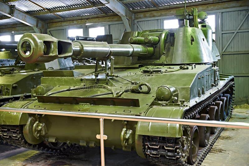 SO-152 2S3 Akatsiya Soviet 152.4 mm self-propelled artillery. SO-152 (СО-152) 2S3 Akatsiya is a Soviet 152.4 mm self-propelled artillery developed in 1968 royalty free stock photos