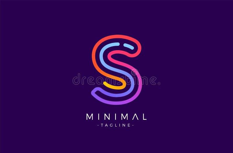 S-Alphabetbuchstabelogo Abstrakte glatte bunte Firmenzeichenvektor-Designschablone lizenzfreie abbildung