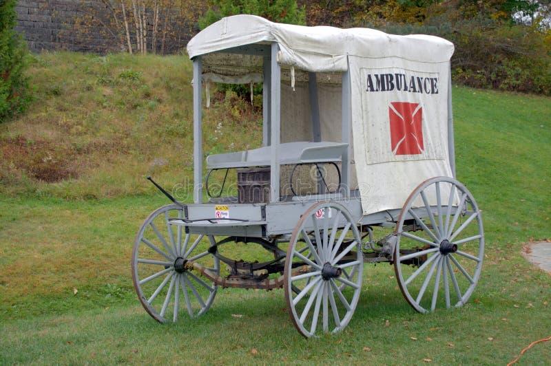 1800s Ambulansowi zdjęcie stock