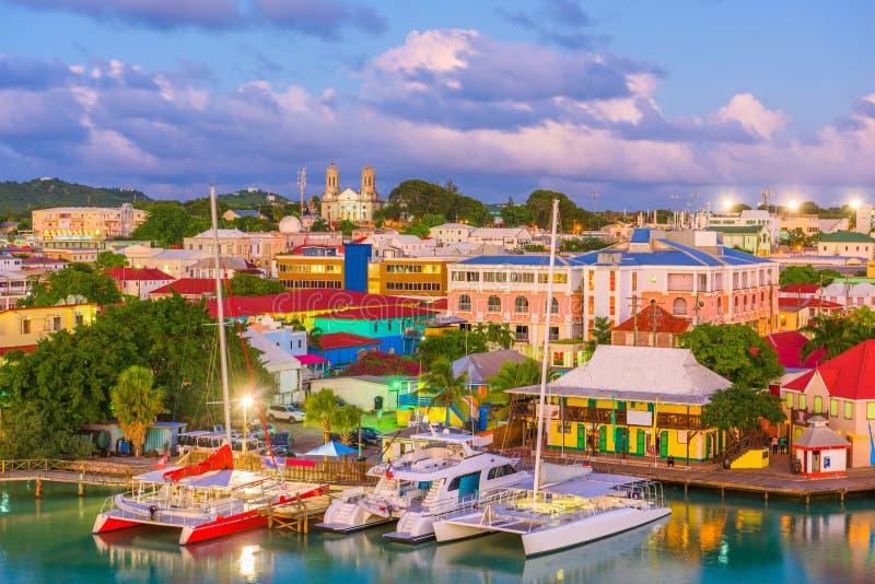 ` S, Antigua di St John immagini stock