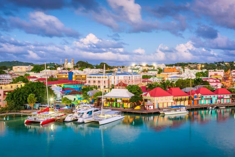 ` S, Antigua e Barbuda di St John fotografia stock