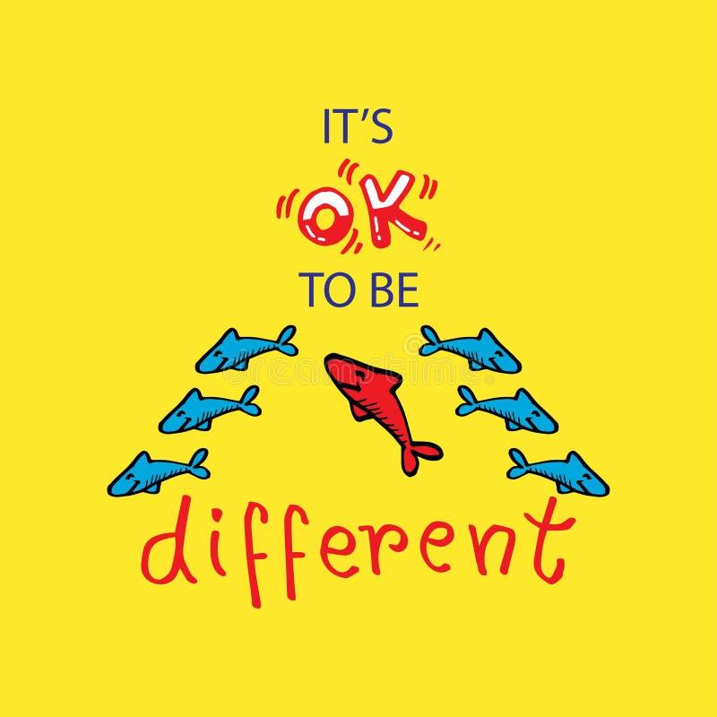 It?s aprova para ser diferente projeto da camisa ilustração royalty free
