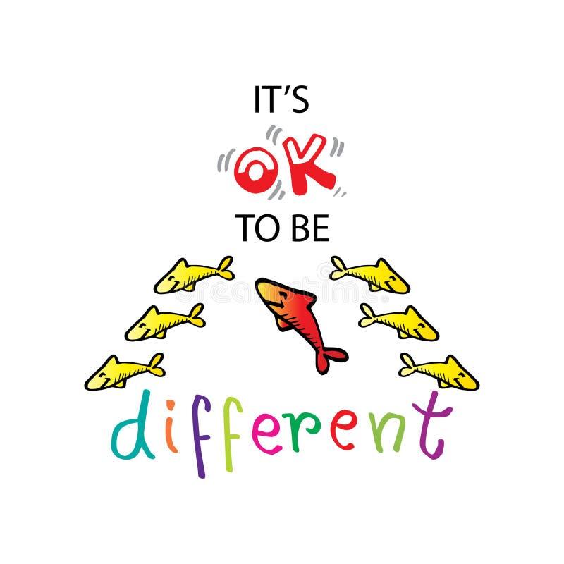 It?s aprueba para ser diferente dise?o de la camisa stock de ilustración