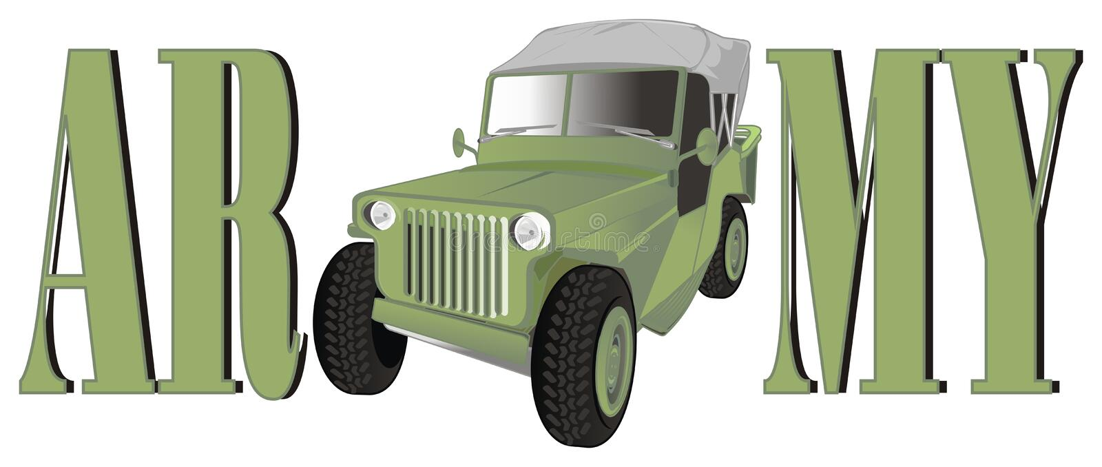 It`s army car vector illustration