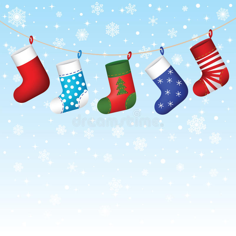 S'arrêter de chaussettes de Noël illustration de vecteur