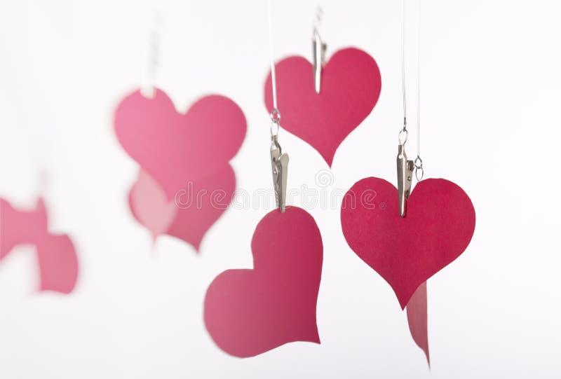 S'arrêter de papier de coeurs images stock