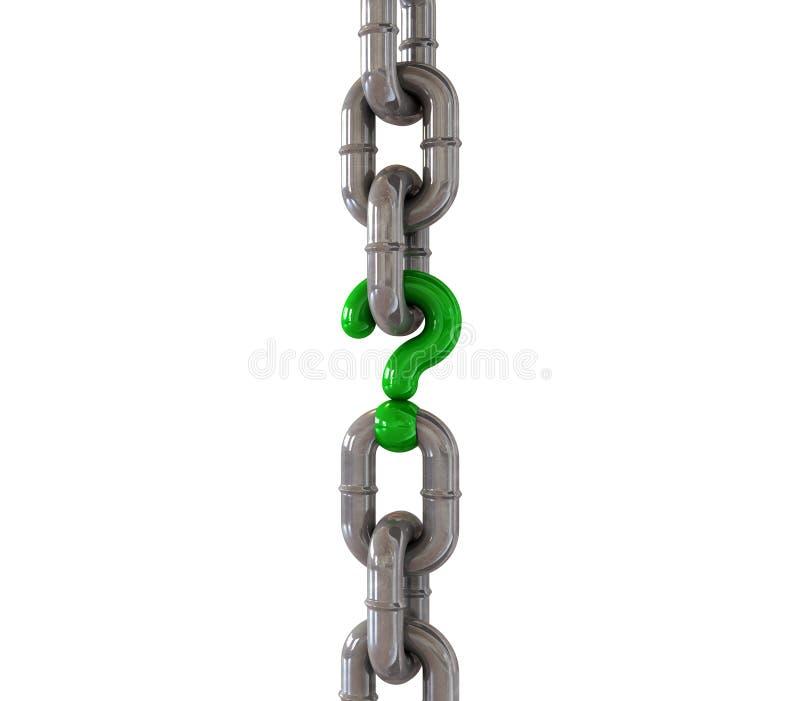 S'arrêter de tige manquante à chaînes nettoient illustration de vecteur