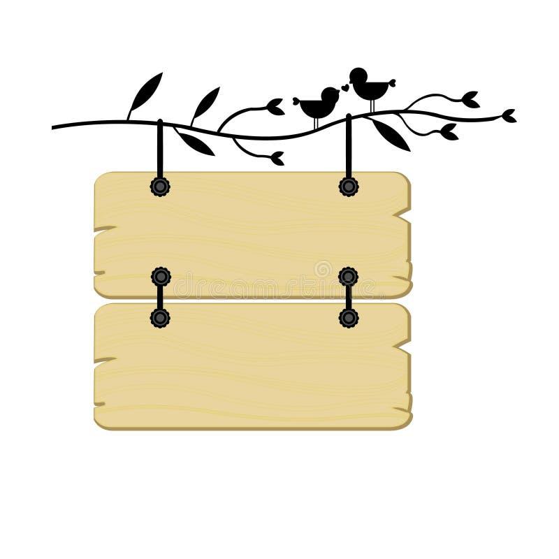 S'arrêter en bois de signe illustration de vecteur
