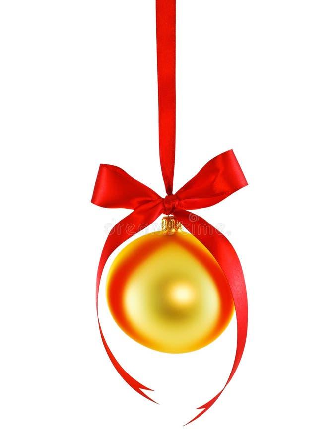 S'arrêter sur une babiole de Noël de jaune de bande image stock