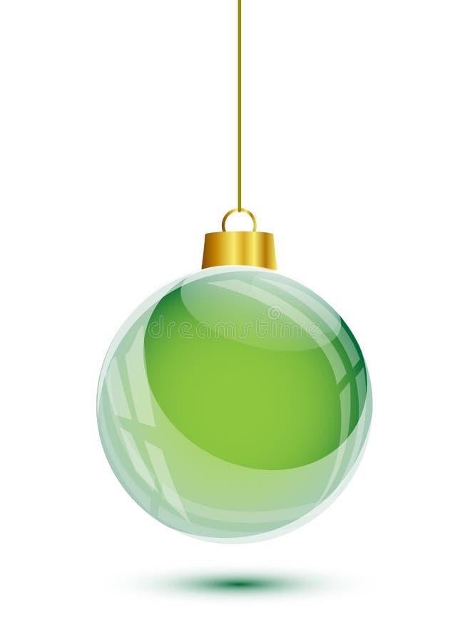 S'arrêter vert d'arbre de Noël illustration de vecteur