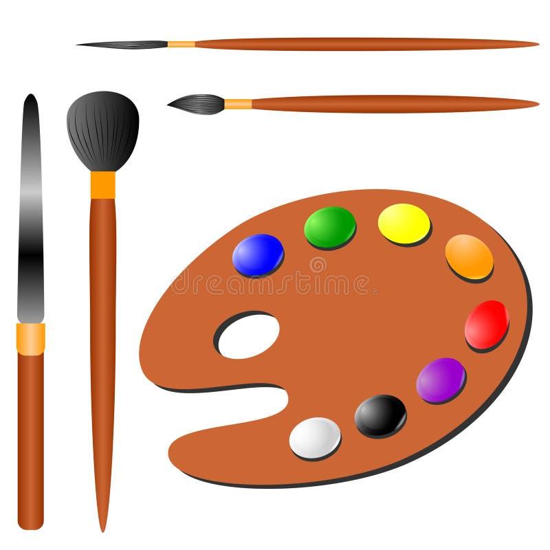 s artysty narzędzi ilustracja wektor