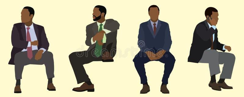 S'asseoir illustration libre de droits