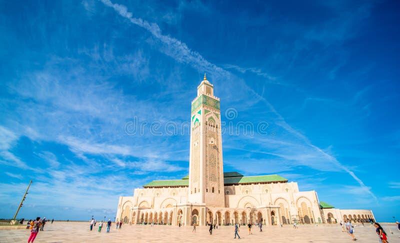 S?awny Hassan II meczet zdjęcia stock