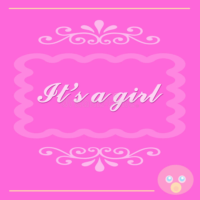 Download It's A Baby Girl Card Royalty Free Stock Images - Image: 9844649