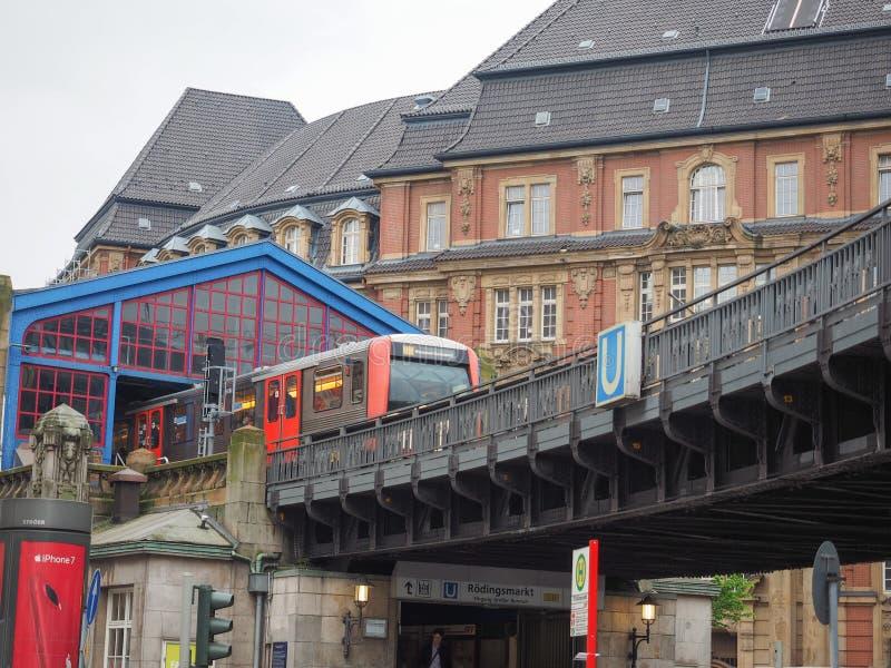 S Bahn S pociąg w Hamburg zdjęcie royalty free