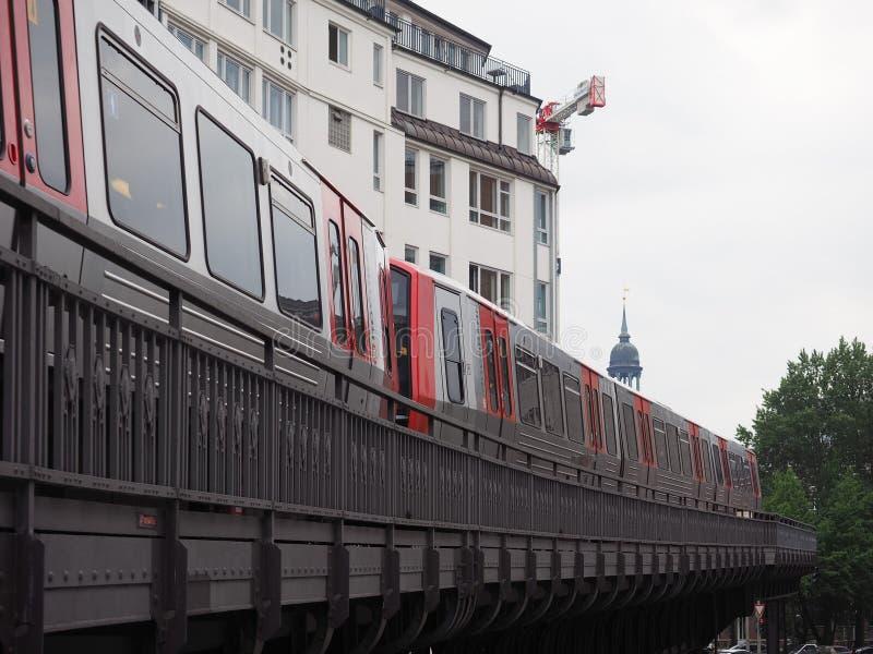 S Bahn w Hamburg (S pociąg) zdjęcie stock
