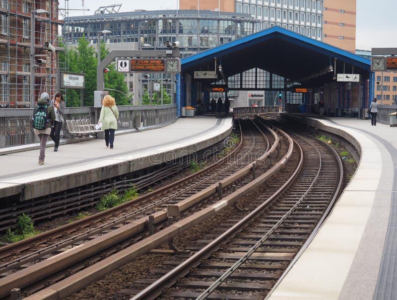 S Bahn w Hamburg (S pociąg) obraz stock