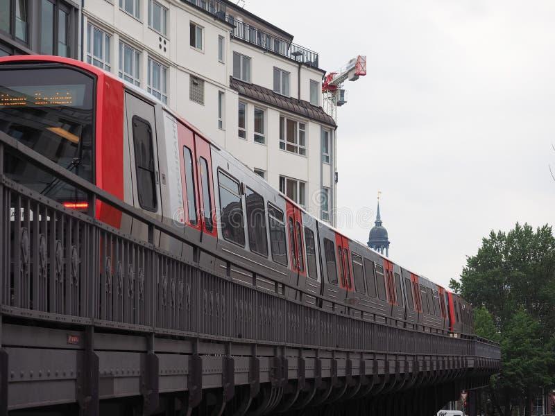 S Bahn w Hamburg (S pociąg) obrazy royalty free