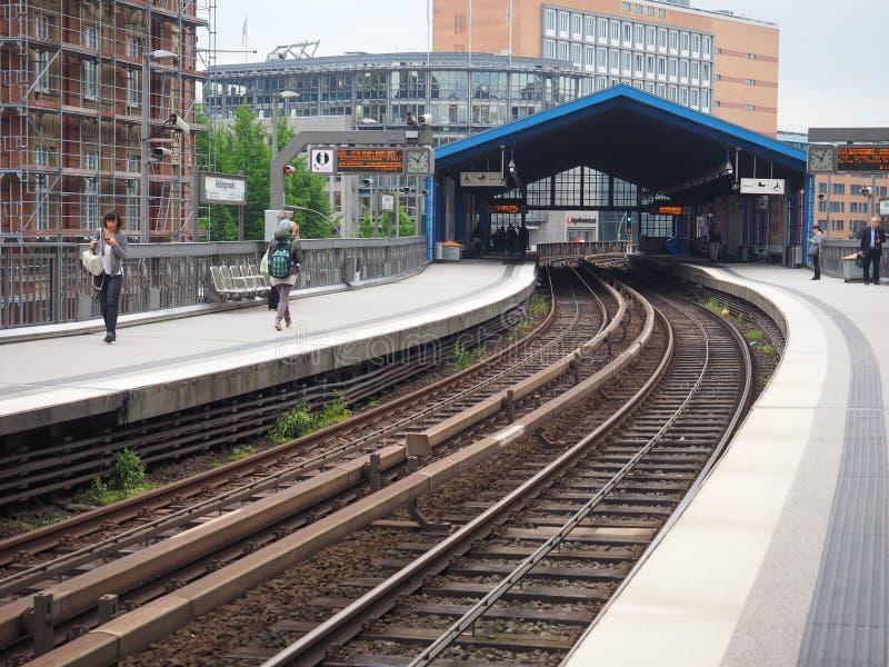 S Bahn w Hamburg (S pociąg) fotografia royalty free